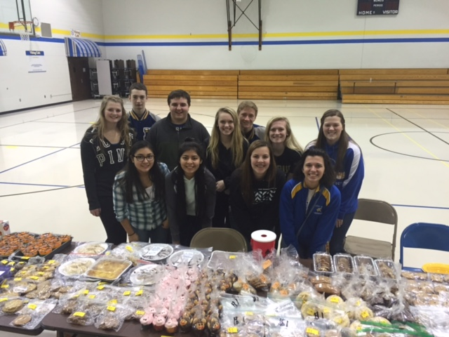 NWHS Student Council Bake Sale Riley 1