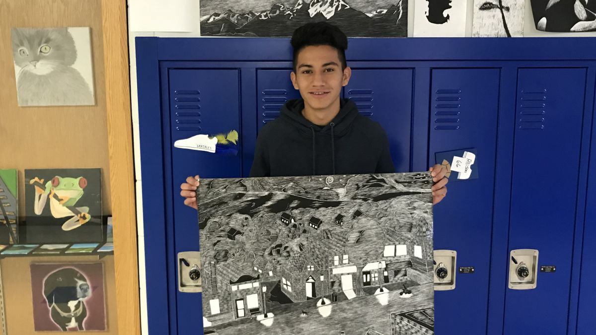 Congratulations to Lucas Borja! Honorable Mention INTESOL Student Art Contest